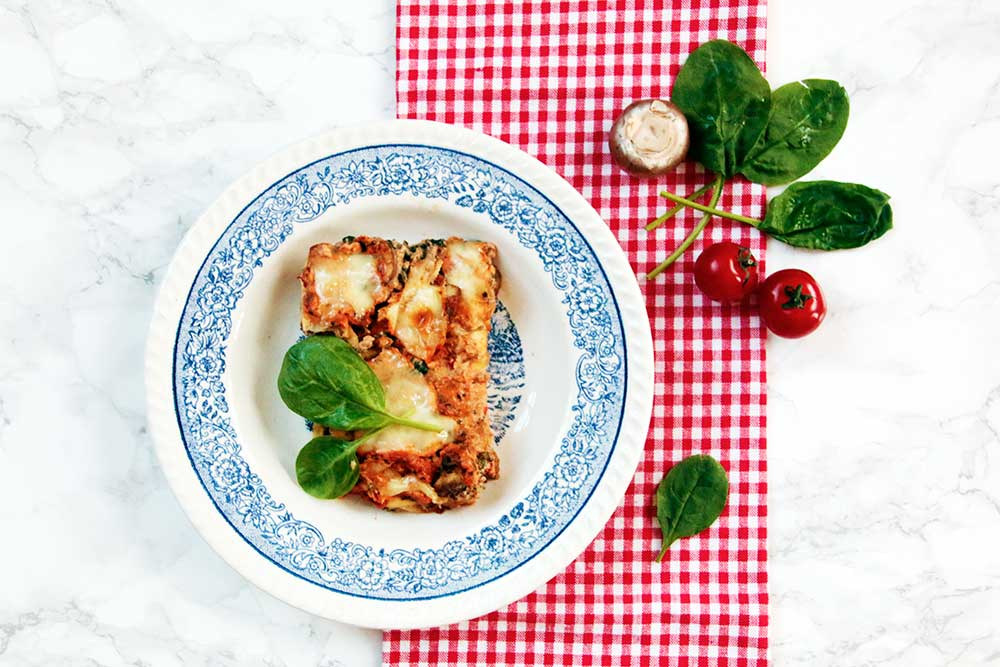 Vegetarische lasagne met mascarpone en ricotta de for Kookboek veganistisch