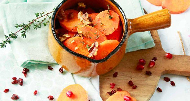 wortels met granaatappelsap