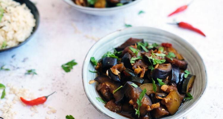 Pikante aubergine